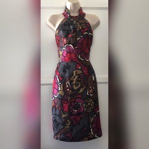Trina Turk floral bloom halter dress
